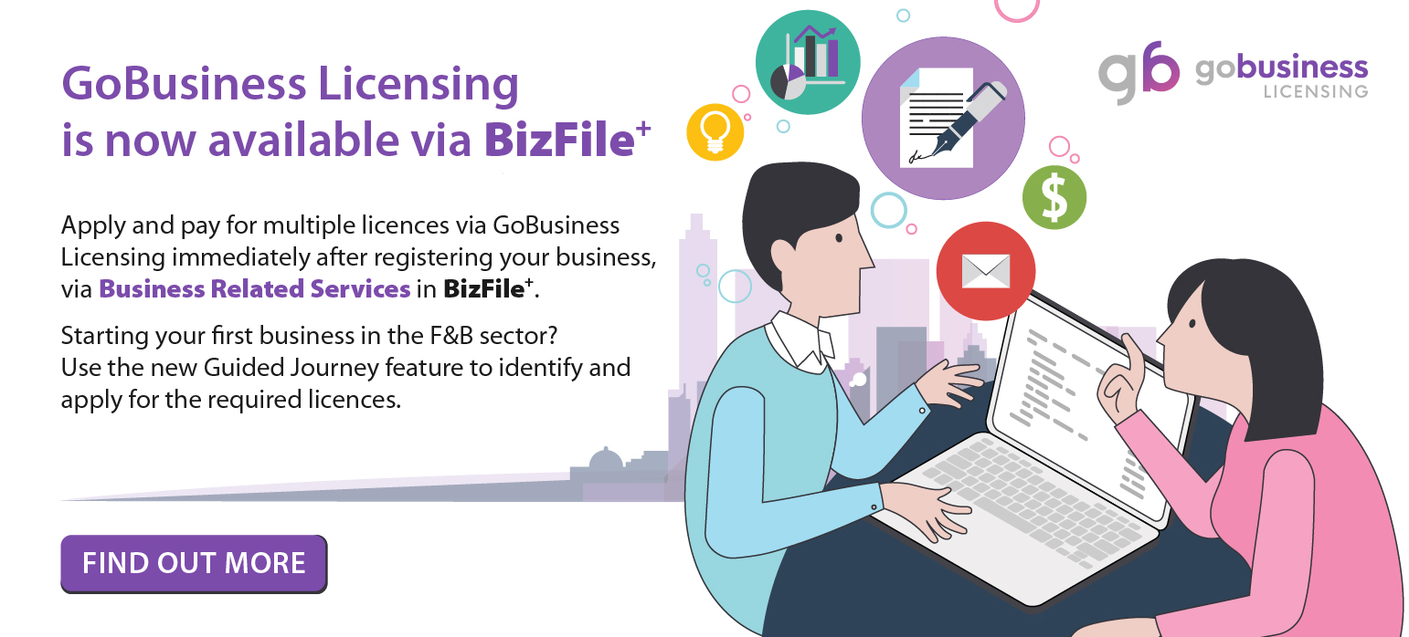 GoBusiness Licencing is available via BizFile+